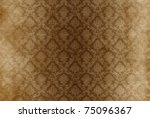 Vintage damask background wallpaper - stock photo