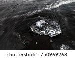 ice that look like diamond is...   Shutterstock . vector #750969268