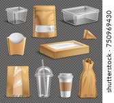 fastfood packages realistic set ... | Shutterstock .eps vector #750969430