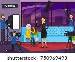tv show orthogonal composition... | Shutterstock .eps vector #750969493