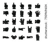 gesture icons set. simple... | Shutterstock .eps vector #750969604