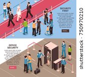 isometric security banners... | Shutterstock .eps vector #750970210