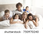 large group of her friends... | Shutterstock . vector #750970240