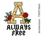 always free fashion glitter... | Shutterstock .eps vector #750973663