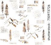 forest seamless pattern. wild...   Shutterstock . vector #750973726