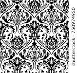 vector damask seamless pattern... | Shutterstock .eps vector #750974920