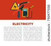 electricity informative poster... | Shutterstock .eps vector #750977530