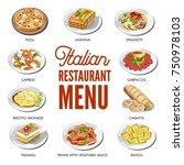 italian cuisine food...   Shutterstock .eps vector #750978103