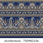 seamless traditional indian... | Shutterstock . vector #750982156