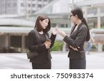 young generation business team... | Shutterstock . vector #750983374