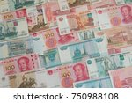 money currency exchange chinese ... | Shutterstock . vector #750988108