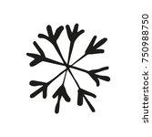 vector snowflake  clip art ...   Shutterstock .eps vector #750988750