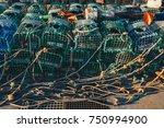 Lobster Fishing Cages On The...