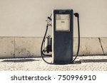 Aged And Worn Vintage Gas Oil...
