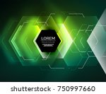 digital techno abstract... | Shutterstock .eps vector #750997660