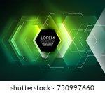 digital techno abstract... | Shutterstock .eps vector #750997660