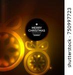 christmas baubles  vector magic ... | Shutterstock .eps vector #750997723