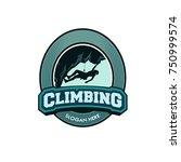 vector climbing illustratin for ... | Shutterstock .eps vector #750999574