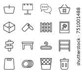 thin line icon set   basket ...   Shutterstock .eps vector #751001488