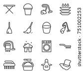 thin line icon set   iron board ... | Shutterstock .eps vector #751002253