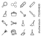 thin line icon set   magnifier  ... | Shutterstock .eps vector #751004830