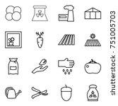 thin line icon set   atom core  ...   Shutterstock .eps vector #751005703