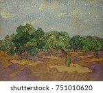 olive trees  by vincent van... | Shutterstock . vector #751010620