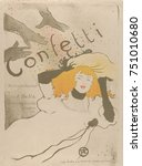 Confetti  By Henri De Toulouse...