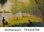 study for a sunday on la grande ... | Shutterstock . vector #751010704