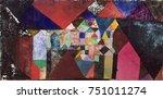municipal jewel  by paul klee ...   Shutterstock . vector #751011274