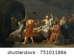 the death of socrates  by... | Shutterstock . vector #751011886