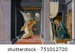 the annunciation  by botticelli ... | Shutterstock . vector #751012720