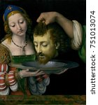 salome with head of john the... | Shutterstock . vector #751013074