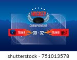 vector of ice hockey... | Shutterstock .eps vector #751013578