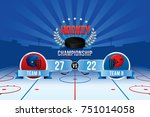 vector of ice hockey... | Shutterstock .eps vector #751014058