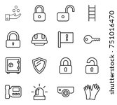 thin line icon set   chemical... | Shutterstock .eps vector #751016470