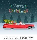 merry christmas stylized... | Shutterstock .eps vector #751021570