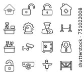 thin line icon set   wireless... | Shutterstock .eps vector #751022008
