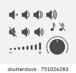 digital sound controller icons...   Shutterstock .eps vector #751026283