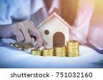 saving  retirement plan ... | Shutterstock . vector #751032160