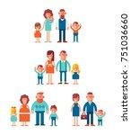 big vector set of characters in ... | Shutterstock .eps vector #751036660