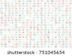 beautiful geometric pattern... | Shutterstock .eps vector #751045654