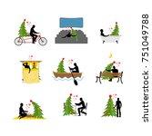 love for christmas tree... | Shutterstock .eps vector #751049788