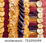 assorted colorful dried fruit | Shutterstock . vector #751054399