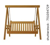 classic outdoor garden wooden... | Shutterstock .eps vector #751054729