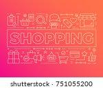 business shopping background...   Shutterstock .eps vector #751055200