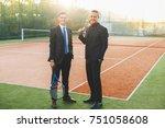 full length portrait of two... | Shutterstock . vector #751058608