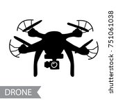 modern air drone  remote... | Shutterstock .eps vector #751061038