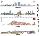Vector Illustrations Of Madrid...