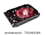 broken dirty hard drive on... | Shutterstock . vector #751065184